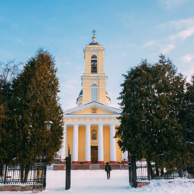 """""""Orthodox Cathedral of St. Peter and Paul in Gomel, Belarus"""" stock image"""
