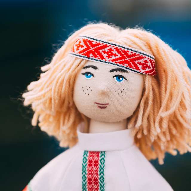 """Belarusian Folk Doll. National Folk Dolls Are Popular Souvenirs From Belarus"" stock image"