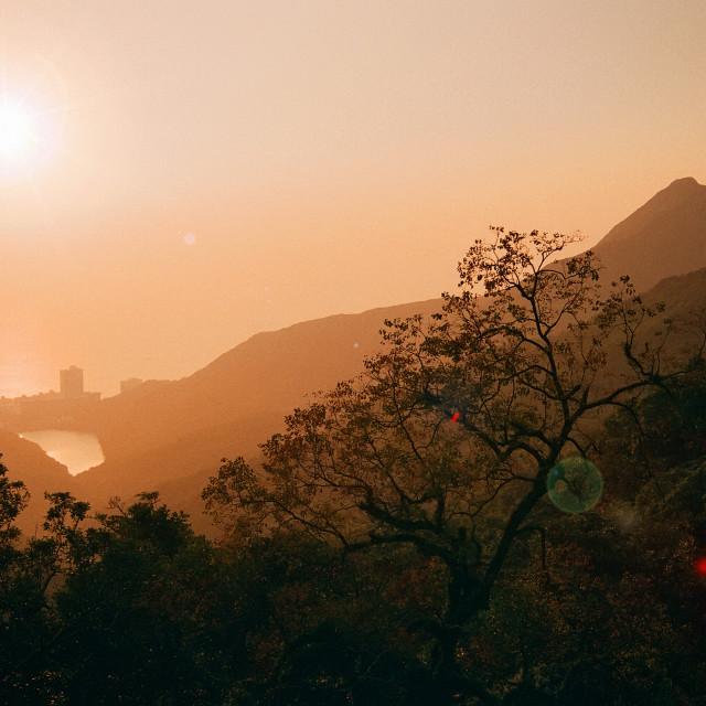 """Pok Fu Lam Reservoir, Hong Kong"" stock image"