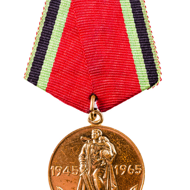 """""""Collection of Russian (soviet) medals for participation in the Second World War"""" stock image"""