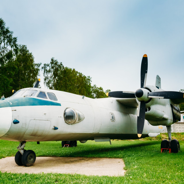 """""""Russian Freighter Aircraft Plane AN-26"""" stock image"""