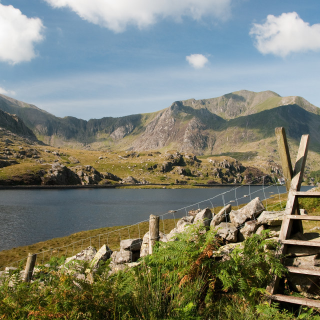 """Llyn Ogwen North Wales"" stock image"