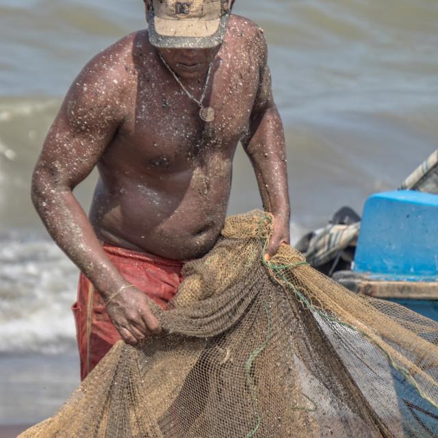"""Fisherman's catch"" stock image"