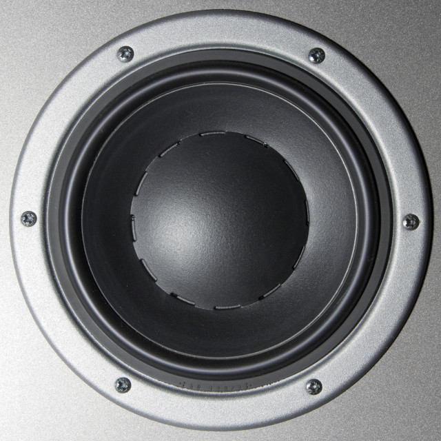 """""""Close-up of a loudspeaker"""" stock image"""