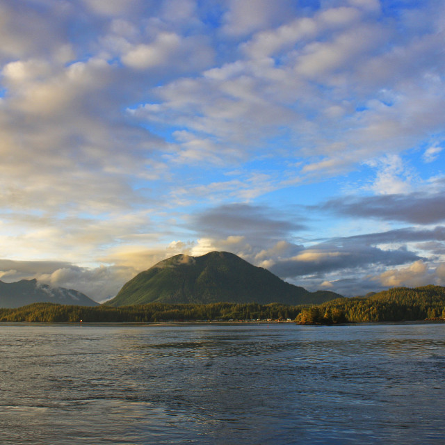 """Sky Over Tofino Harbour, Vancouver Island"" stock image"