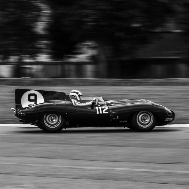 """Jaguar D Type at Flywheel Festival"" stock image"
