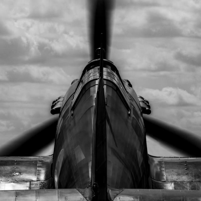 """Hawker Hurricane Black and White"" stock image"