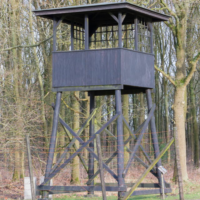 """Westerbork, Netherlands - Guard tower"" stock image"