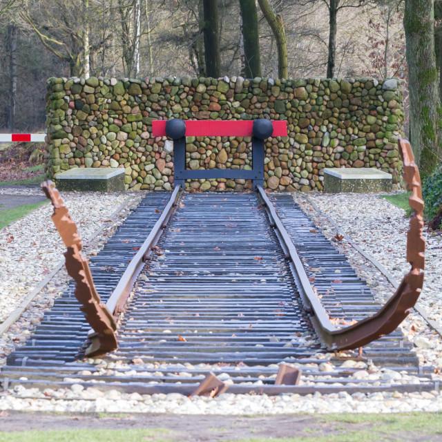 """""""Westerbork, Netherlands. Januari 2018. Former nazi deportation camp..."""" stock image"""