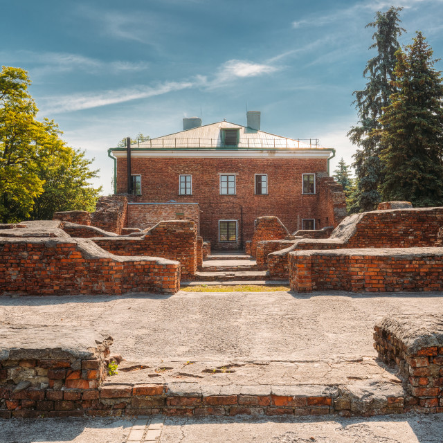 """""""Brest, Belarus. Ruins Of Barracks On Territory Of Brest Fortress In Sunny..."""" stock image"""