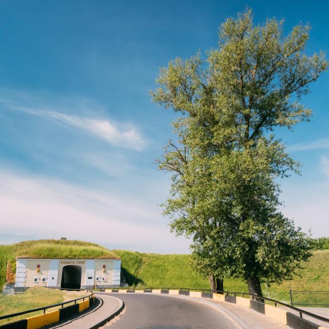 """Brest, Belarus. Northern Gates Of Brest Fortress In Sunny Summer Day. Brest..."" stock image"