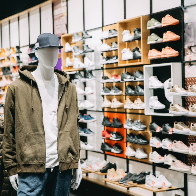 """""""Mannequin Dressed In Male Man Casual Clothes In Store Of Shopping Center On..."""" stock image"""