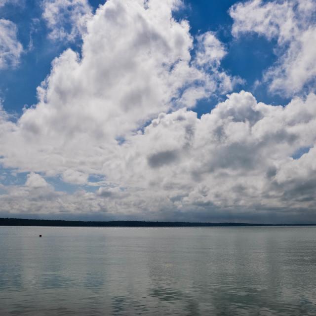 """""""Balaton in the sky"""" stock image"""