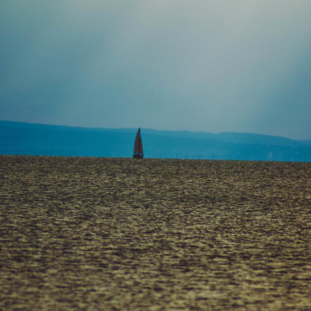 """Balaton sailing boat"" stock image"