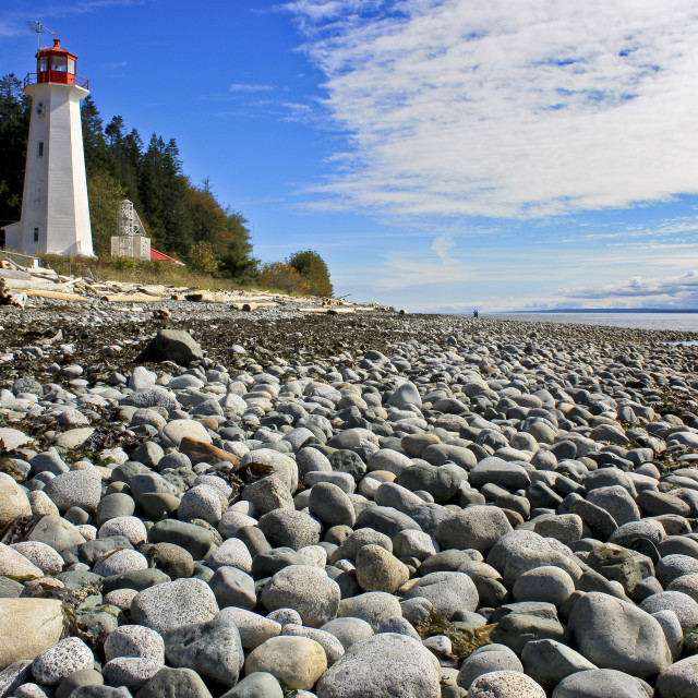 """Lighthouse on Quadra Island B.C."" stock image"