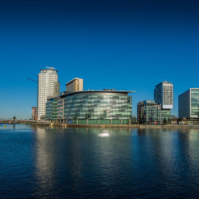 """Media city, Salford, Manchester"" stock image"