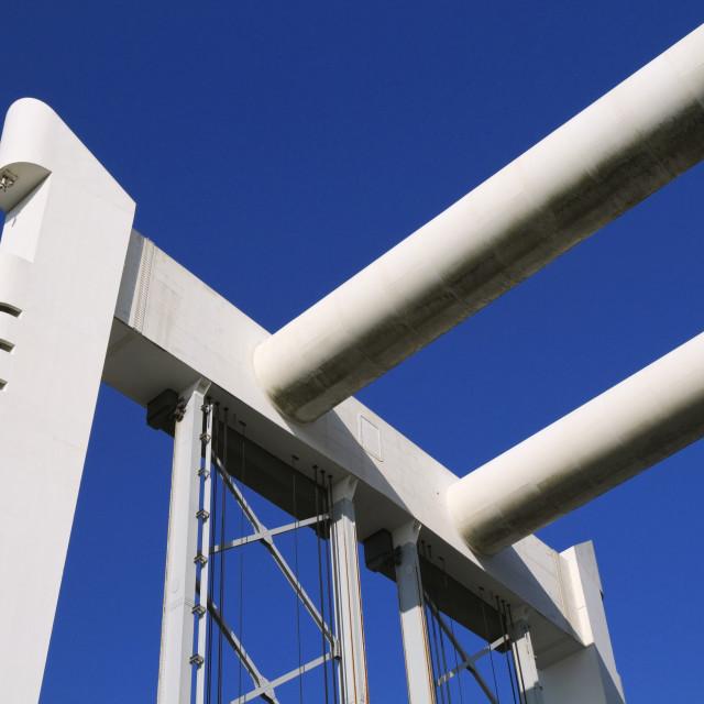 """""""Railway bridge in Dordrecht"""" stock image"""