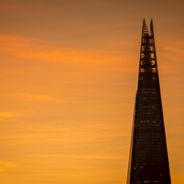 """The Shard at Sunrise, London"" stock image"