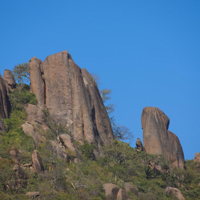 """Phallic Rocks At The Valley Of Marvels, Babile, Ethiopia"" stock image"