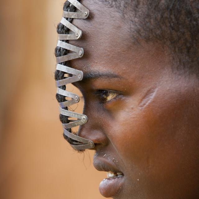 """Miss Dobi, Bana Tribe Girl, Key Afer, Omo Valley, Ethiopia"" stock image"