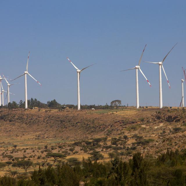 """Clean Energy Windmills In Adama, Ethiopia"" stock image"