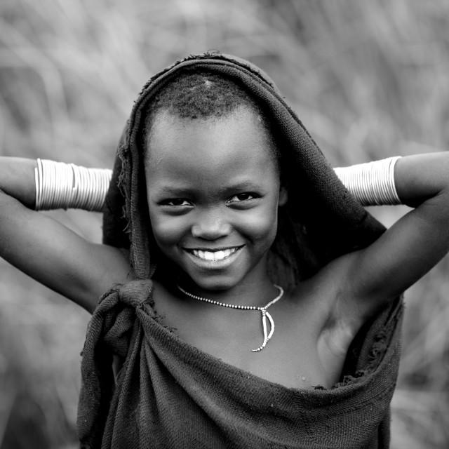 """Surma Boy, Turgit Village, Omo Valley, Ethiopia"" stock image"