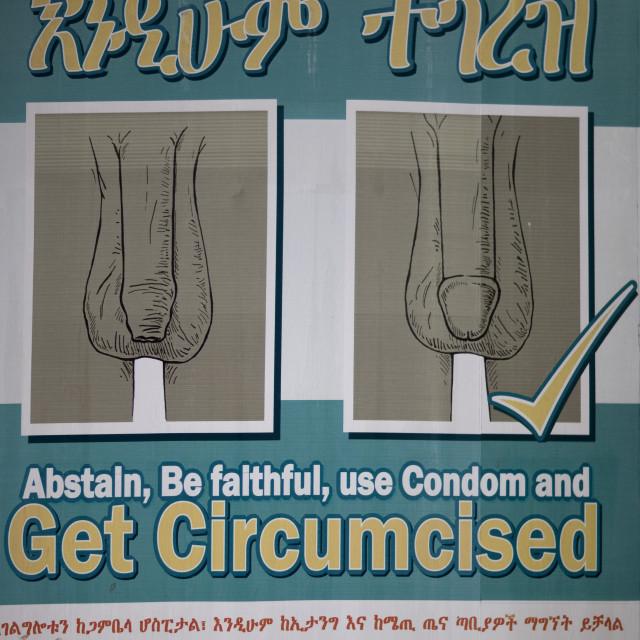 """Promotion Of Circumcision, Gambella Province, Ethiopia"" stock image"