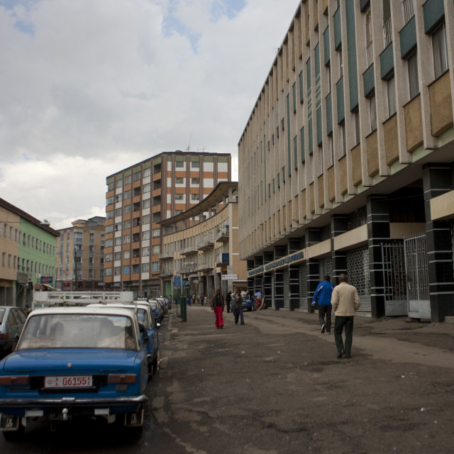 """Old Italian District In Addis Ababa, Ethiopia"" stock image"