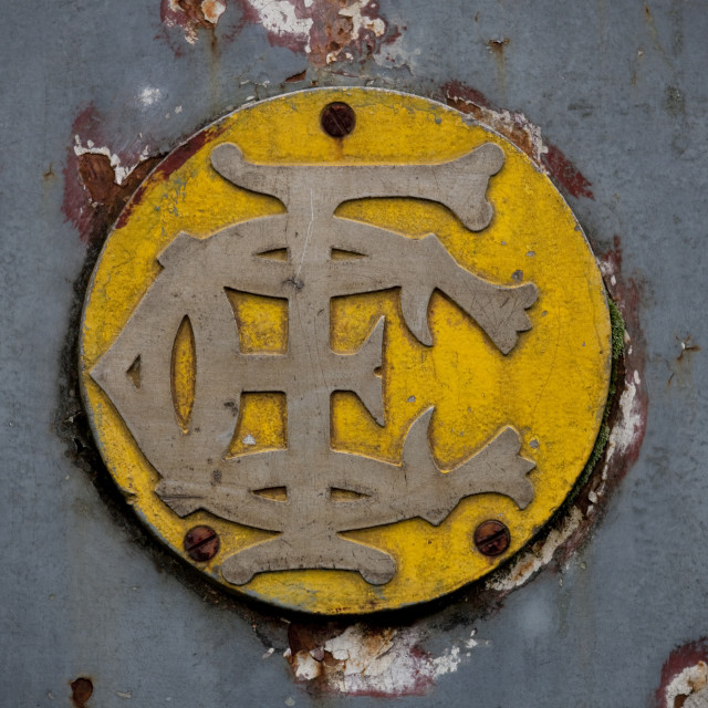 """Plate On A Train In Addis Ababa Railway Station, Ethiopia"" stock image"