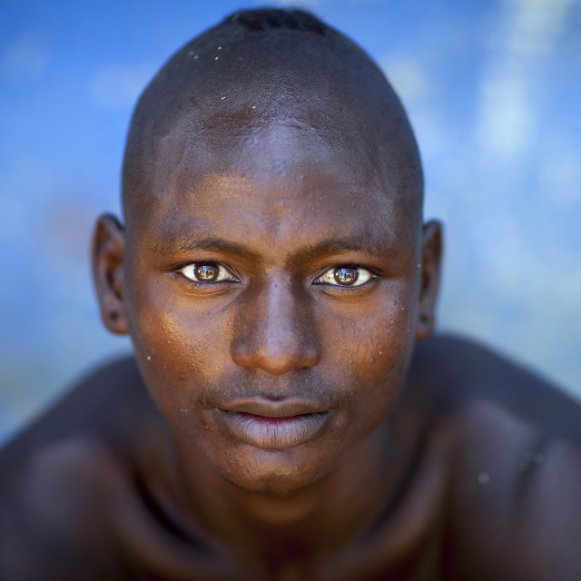 """Hamer Tribe Man, Turmi, Omo Valley, Ethiopia"" stock image"