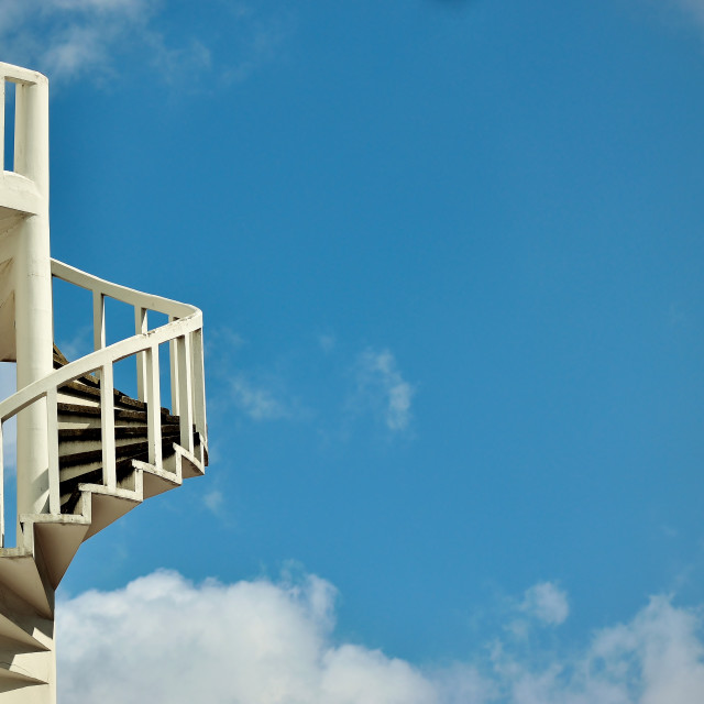 """""""Spiral staircase in the sky"""" stock image"""