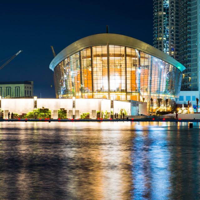 """""""Dubai Opera building at night"""" stock image"""