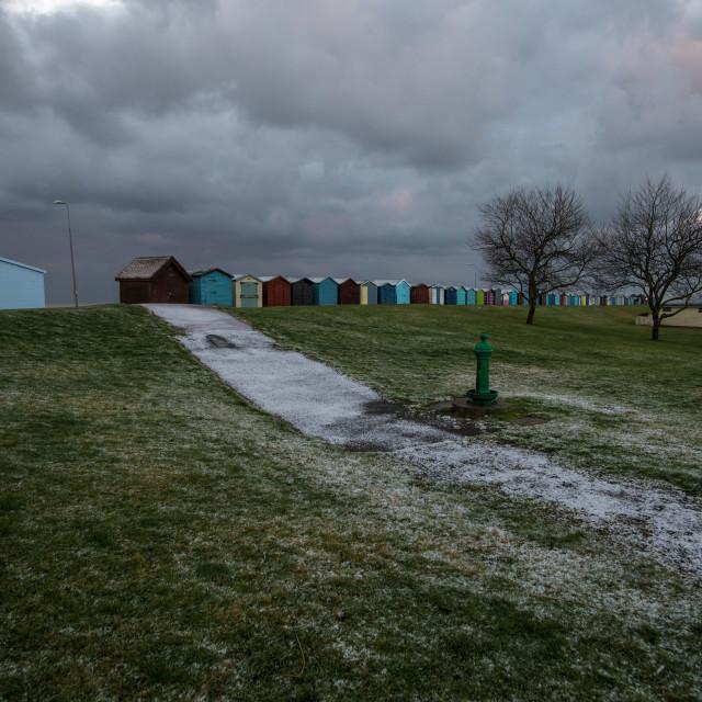 """""""Dovercourt Snow February 2018"""" stock image"""