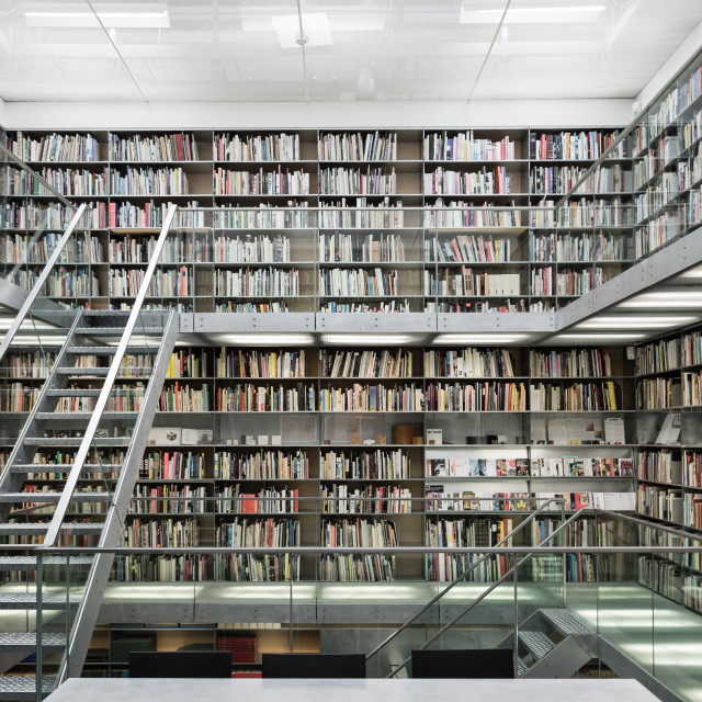 """Library in Van Abbemuseum, Eindhoven"" stock image"
