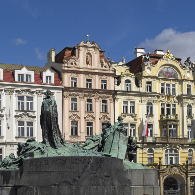 """Jan Hus Monument, Prague"" stock image"