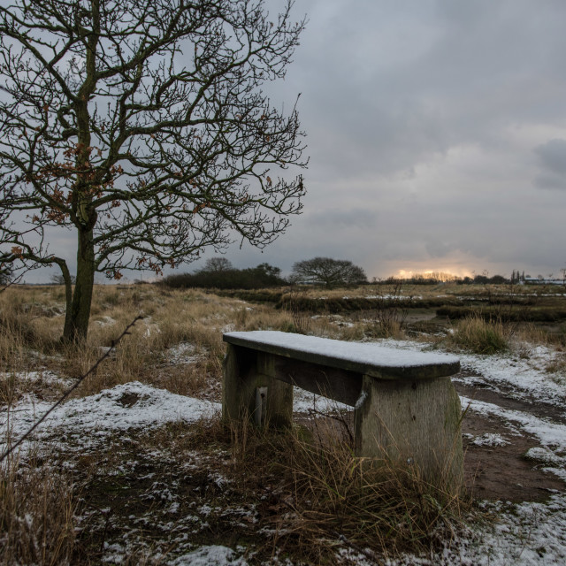 """Snow at Beaumont Quay"" stock image"
