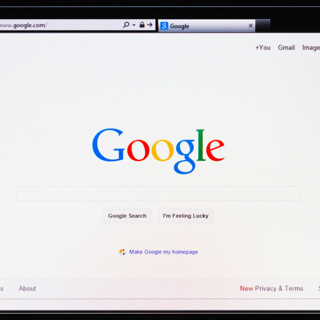 """Homepage of Google.com"" stock image"