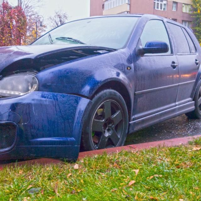 """Front crashed car"" stock image"