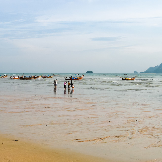 """Ao Nang beach, Krabi province, Thailand, Asia"" stock image"