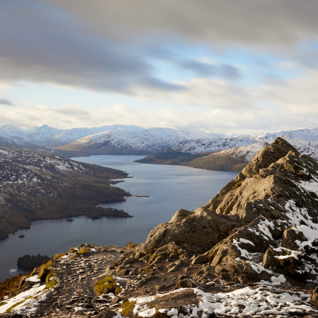 """Ben A'an in Snow"" stock image"