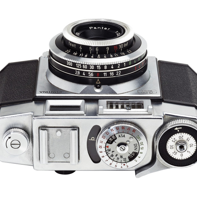 """Retro 1950s camera"" stock image"