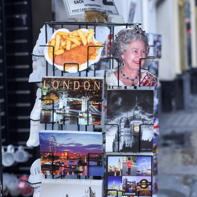 """London Souvenir Postcards,UK."" stock image"