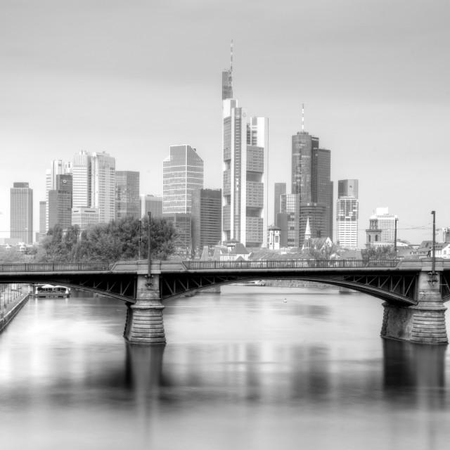 """Frankfurt am Main Skyline in Black and White"" stock image"