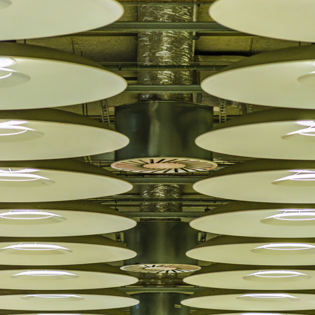 """Ceiling Detail Barajas Airport, Madrid, Spain"" stock image"