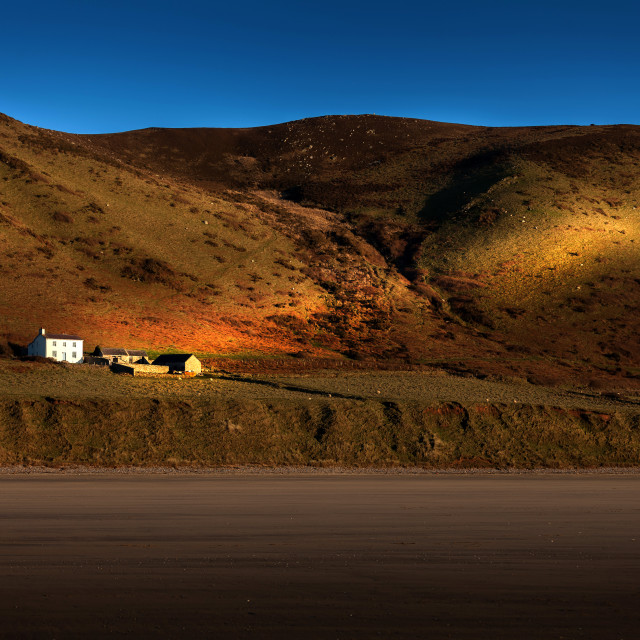 """The Old Rectory at Rhossili"" stock image"