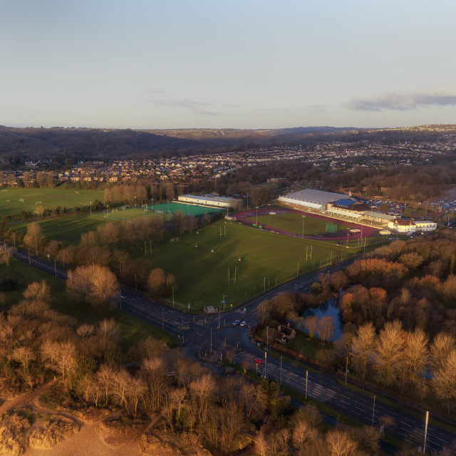 """Sketty Lane Sports Village"" stock image"