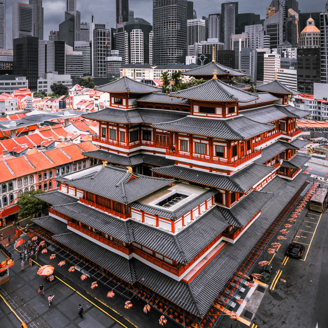 """""""Buddha Tooth Relic Temple in Chinatown Singapore"""" stock image"""