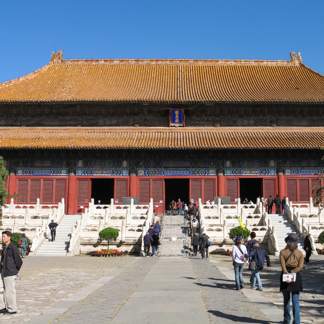 """Hall of Eminent Favours, Ming Tombs, Beijing, China, Asia"" stock image"