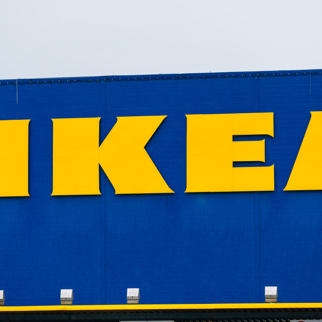 """IKEA logo. Ikea is the world's largest furniture retailer"" stock image"