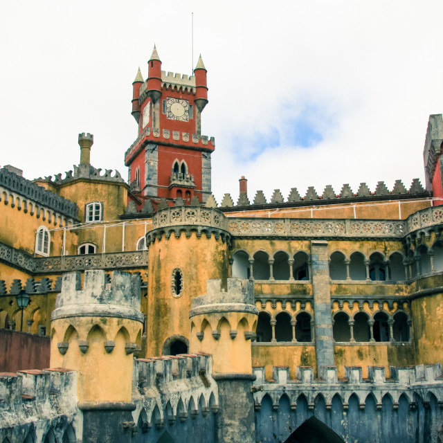"""Pena National Palace, Sintra, Lisbon, Portugal."" stock image"